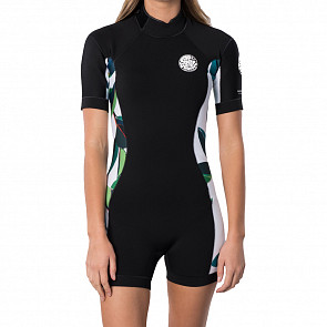 Rip Curl Women's Dawn Patrol 2mm Short Sleeve Back Zip Spring Wetsuit