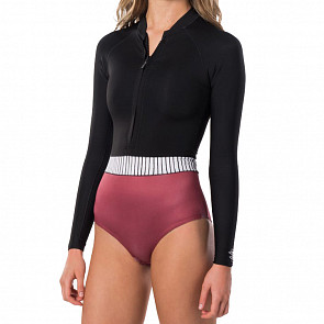 Rip Curl Women's G-Bomb 1mm Long Sleeve Front Zip Spring Wetsuit - Rust
