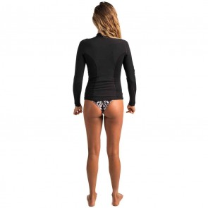 Rip Curl Women's G-Bomb Long 1mm Front Zip Jacket - Black