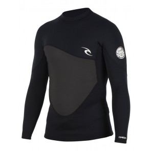 Rip Curl Omega 1.5mm Long Sleeve Wetsuit Jacket - Black