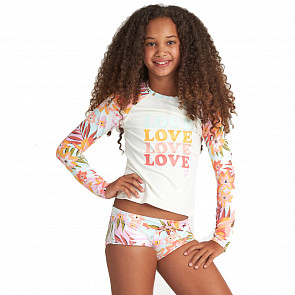 Billabong Youth Dreamy Daze Long Sleeve Rash Guard Set - Multi - Front