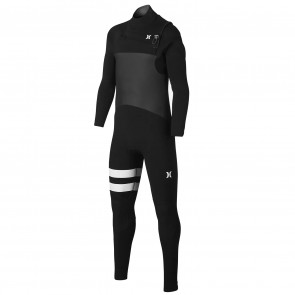 Hurley Youth Advantage Plus 3/2 Chest Zip Wetsuit - Black