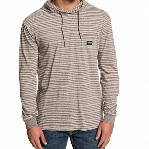 Quicksilver Zermet Long Sleeve Hooded Tee - Falcon Stripe Zermet