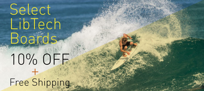 10% Off Select LibTech Surfboards